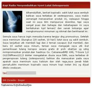 Kopi Radix Osteoporosis